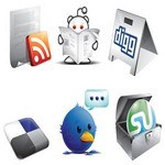 6 Free New Social Icons AI Format