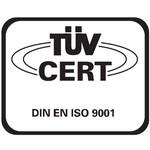 TUV Cert Logo [ISO 9001]